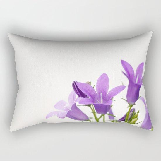 PURPLE FLOWERS - Bellflowers #2 #decor #art #society6 Rectangular Pillow