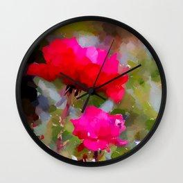 Rote Rosen Wall Clock