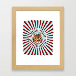 Bengal Cats Make The World Fun Framed Art Print