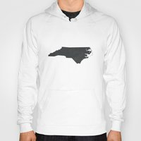 north carolina Hoodies featuring North Carolina  by TheRileyHouse