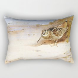 Archibald Thorburn - Hungry and homeless - Digital Remastered Edition Rectangular Pillow