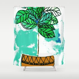 Indoor plant in pot Shower Curtain