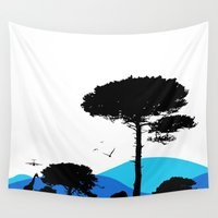 safari Wall Tapestries featuring Safari by yakitoko