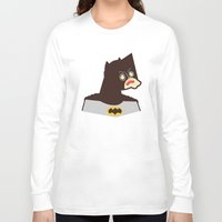 bat man Long Sleeve T-shirts featuring Bat Man by Ryder Doty