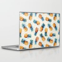 crystals Laptop & iPad Skins featuring Pineapples + Crystals  by micklyn