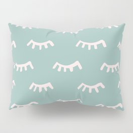 Mint Sleeping Eyes Of Wisdom - Pattern - Mix & Match With Simplicity Of Life Pillow Sham