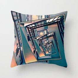 Infinite Spinning Stairs Throw Pillow