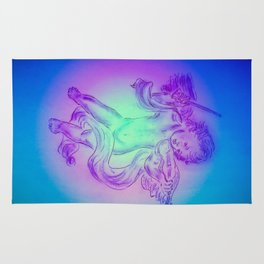 Heavenly apparition  Angel Music Rug