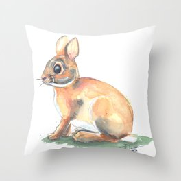 Ivy's Bunny Throw Pillow