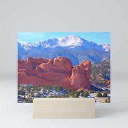 Pikes Peak from Garden of the Gods/Colorado Springs, Colorado Mini Art Print