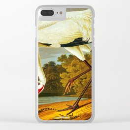 Whooping Crane Clear iPhone Case