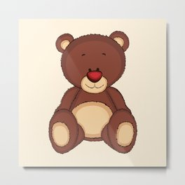 Teddy Bear Metal Print
