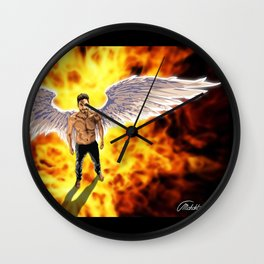 Lucifer Morningstar fire Wall Clock