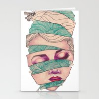 knit Stationery Cards featuring Knit Head by AW Illustrations