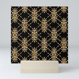 Edwardian parlour gold & black Mini Art Print