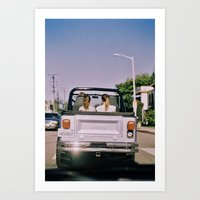jeep Art Prints featuring Jeep by Warren Silveira + Stay Rustic