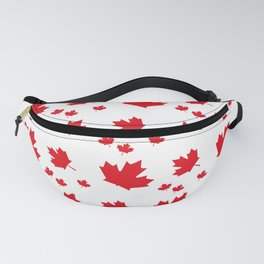 Canada Maple Leaf-Large-White Fanny Pack