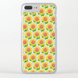 Sunflower Pattern_A Clear iPhone Case