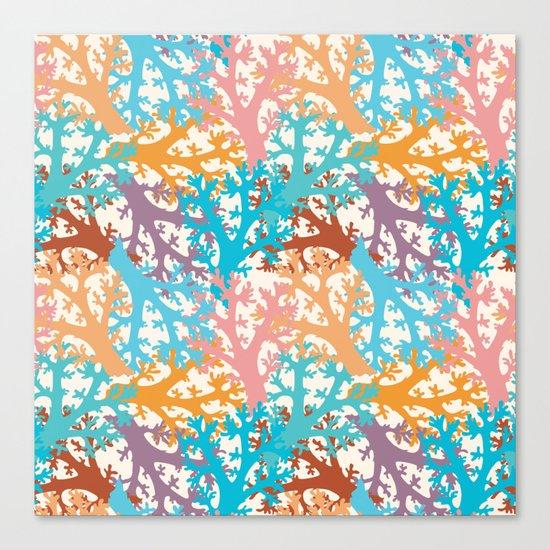 Pastel Marine Pattern 05 Canvas Print