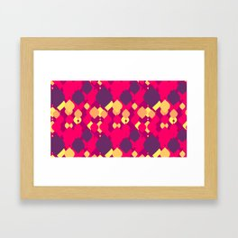 Retro Drops Framed Art Print