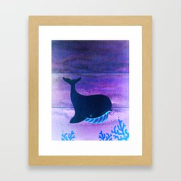 The Whale in the Paint Chip Framed Art Print