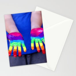 Rainbow Hands Stationery Cards