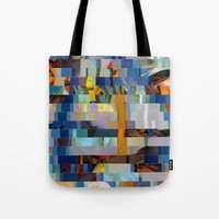 transformer Tote Bags featuring Up The Creek Without A Poodle (Provenance Series) by Wayne Edson Bryan