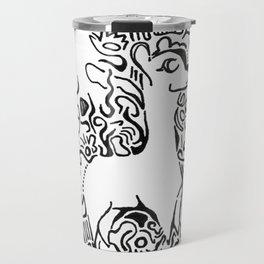 Wooly Lineart Travel Mug