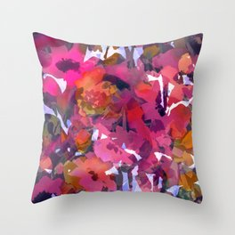 Poppy Patch Tapestry Throw Pillow
