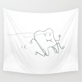 Floss - running tooth - mint Wall Tapestry