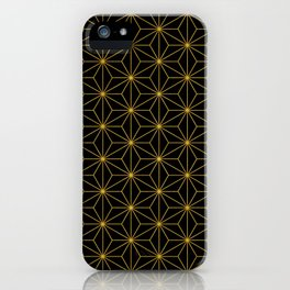 Asanoha -Gold & Black- iPhone Case