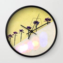 Levitated Mass (Yellow) Wall Clock