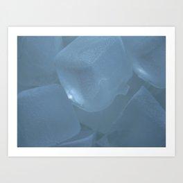 Ice cubicles Art Print