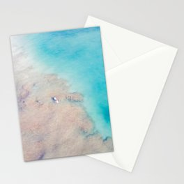 Lone paddler in blue waters Stationery Cards
