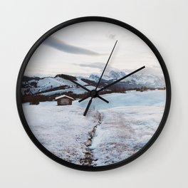 Alpine morning - Landscape and Nature Photography Wall Clock