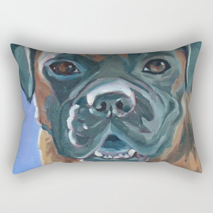 Boone the Boxer Dog Portrait Rectangular Pillow