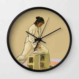 Preparing to Break a Brick Wall Clock