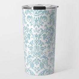 Elegant Damask Pattern (blue) Travel Mug