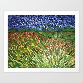 """Fields of Red"" Art Print"