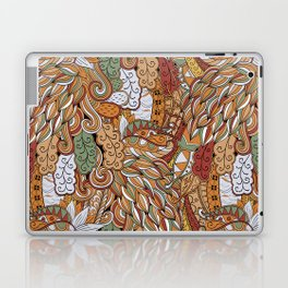 Stylized Boho Bulb Pattern Laptop & iPad Skin