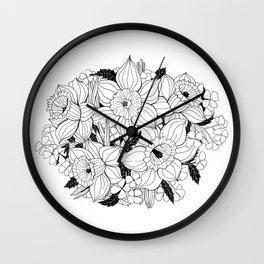 Daffodil bouquet Wall Clock