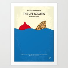 No774 My The Life Aquatic with Steve Zissou minimal movie poster Art Print