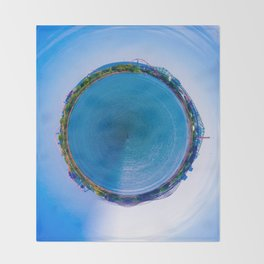 Montreal City litlle planet Throw Blanket