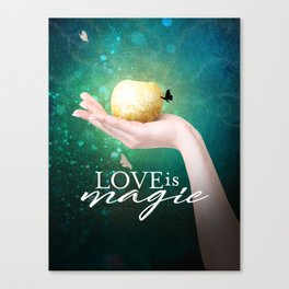 Love is Magic Canvas Print