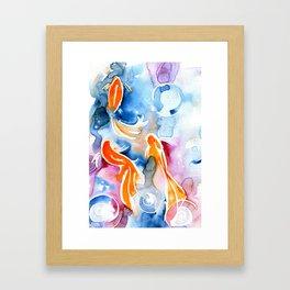 Watercolor Goldfish Framed Art Print