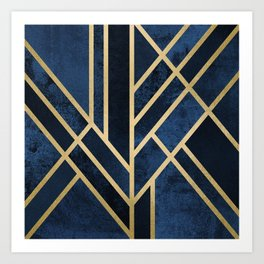 Art Deco Midnight Art Print