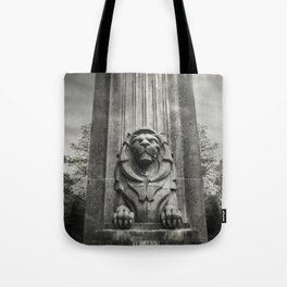 Vancouver Raincity Series - Lion at the Gate - Black and White Tote Bag