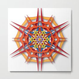 abstract mandala harsh sunlight Metal Print