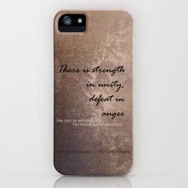 Strength in Unity - Defeat in Anger - Maori Wisdom - metalic iPhone Case