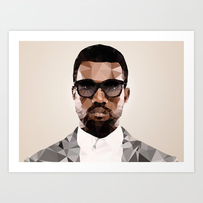 Omari West | Polygon Art Art Print